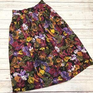 Vtg Midi Leaf skirt